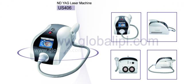 Portable ND YAG Laser Machine Q Switch Tattoo And Pigment Spot Removal