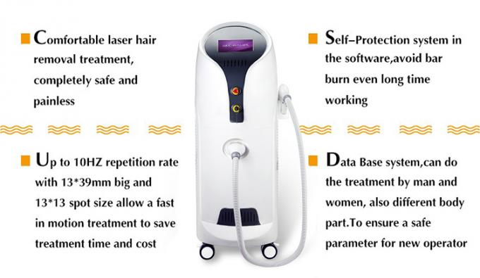 45 * 56 * 108cm Diode Hair Removal Laser Machine 3500 Watt Output Power