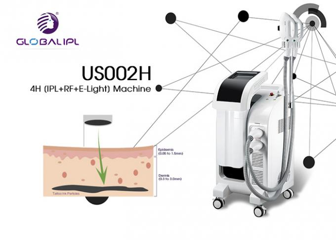 Colour Laser Multifunction IPL RF Beauty Equipment 2500W 44*53*89cm Size