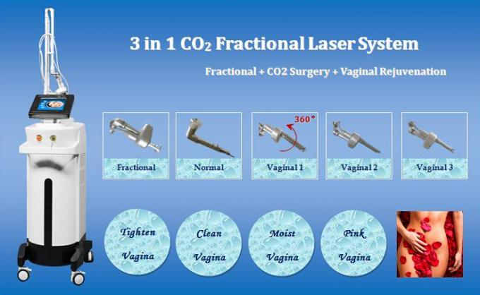 Medical CO2 Fractional Laser Machine 50W Power 0.1-2.6mm Distance