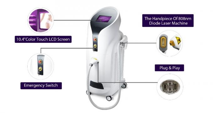 FDA Medical 808 Laser Hair Removal Device New Designed Integrated Handpiece 0