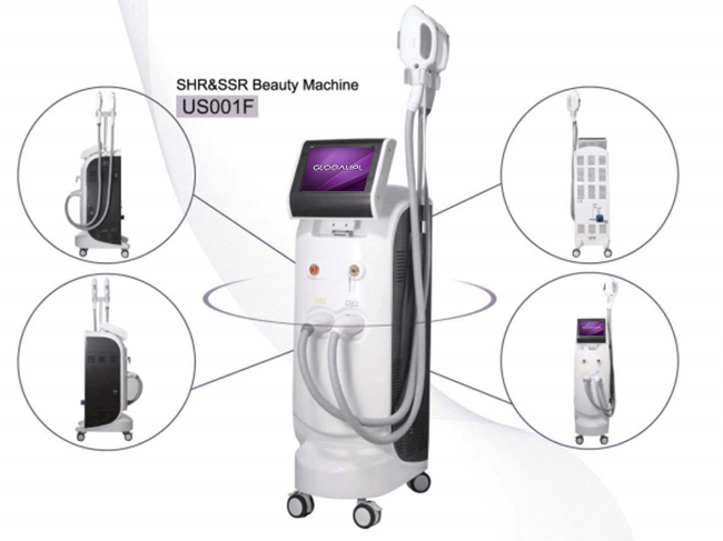 SHR IPL hair removal beauty equipment skin rejuvenation