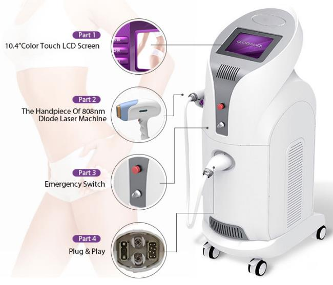 810nm 808 Laser Hair Removal Device / Commercial Laser Hair Removal Machine