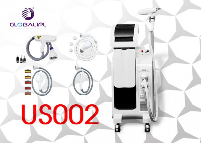 Multifunction E Light Beauty Equipment / E Light Ipl Machine For Tattoo Removal