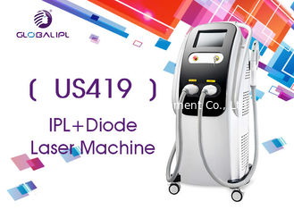 China 2 Handles Diode Hair Removal Laser Machine With White / Black Shell 10.4 Inch Screen supplier