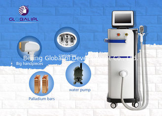 808nm Permanent Laser Hair Removal Machines / Hair Removal Equipment For All Types Skin