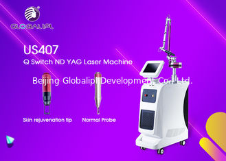 China Salon Q Switch ND YAG Laser Machine 600mj / 300mj For Tattoo Removal supplier