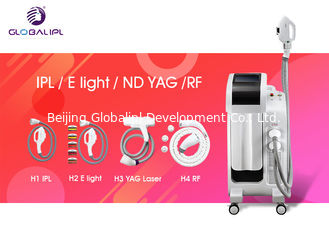 China Professional SHR Handpieces IPL Laser Hair Removal Machine White Color supplier