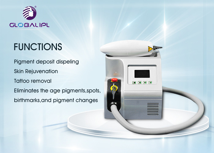 Professional YAG Laser Tattoo Removal Equipment 50/60HZ Air + Water Cooling System