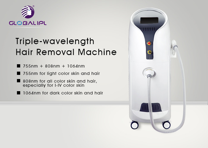 755nm 808nm 106nm Diode Laser Hair Removal Machine With Painless Treatment