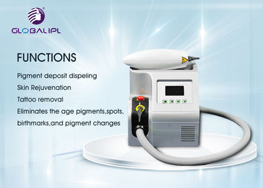 buy Professional YAG Laser Tattoo Removal Equipment 50/60HZ Air + Water Cooling System online manufacturer