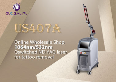 Medical Skin Care Nd Yag Laser Machine For Face Spots Rejuvenation / Vascular Treatment