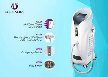 Permanent Ladies Hair Removal Machine 808nm Wavelength For Long Time Working